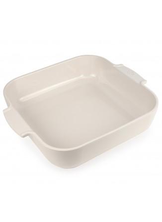 Kepimo / serviravimo indas APPOLIA kvadratinis 29,5x29,5x7,5 cm. 5,4 L, keramika, baltas, PEUGEOT (Prancūzija)