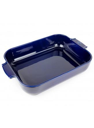 Kepimo / serviravimo indas APPOLIA kvadratinis 29,5x29,5x7,5 cm. 5,4 L, keramika, mėlynas, PEUGEOT (Prancūzija)