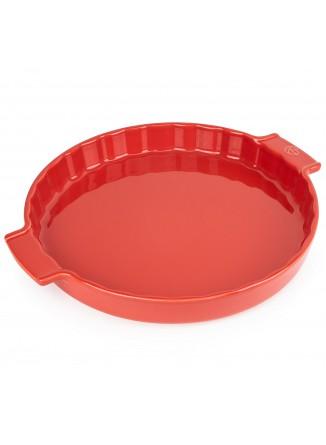 Kepimo / serviravimo indas APPOLIA tartaletei Ø 30 cm 2,1 L, keramika, raudonas, PEUGEOT (Prancūzija)