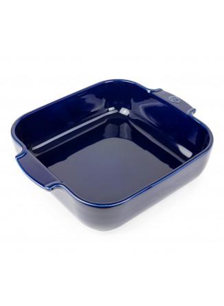 Kepimo / serviravimo indas APPOLIA kvadratinis 22,5x22,5x6,5 cm 2,7 L, keramika, mėlynas, PEUGEOT (Prancūzija)