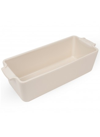 Kepimo / serviravimo indas APPOLIA pailgas 26x11x8 cm 2 L, keramika, baltas, PEUGEOT (Prancūzija)