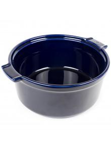 Kepimo / serviravimo indas APPOLIA suflė Ø 22 cm 2,4 L, keramika, mėlynas, PEUGEOT (Prancūzija)