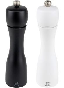 Malūnėliai 2 vnt. pipirams / druskai DUO TAHITI 20 cm, juoda / balta, PEUGEOT (Prancūzija)