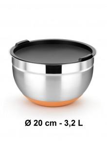 Dubuo su dangčiu Ø 20 cm, 3,2 L, nerūdijantis plienas, neslidus dugnas, EFFICIENT, BRA® (Ispanija)