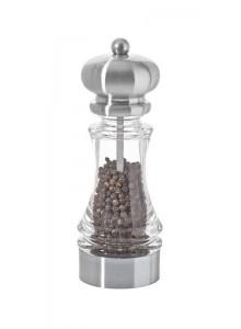 Malūnėlis pipirams SAMBA 18 cm, skaidrus, MARLUX® plieninės girnos, DE BUYER (Prancūzija)