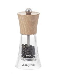 Malūnėlis pipirams FLAMENCO 13 cm, skaidrus, MARLUX® plieninės girnos, DE BUYER (Prancūzija)