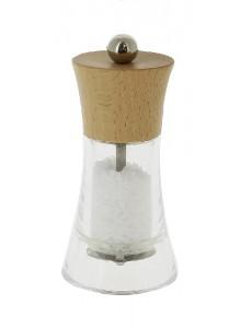 Malūnėlis druskai FLAMENCO 13 cm, skaidrus, MARLUX® plieninės girnos, DE BUYER (Prancūzija)