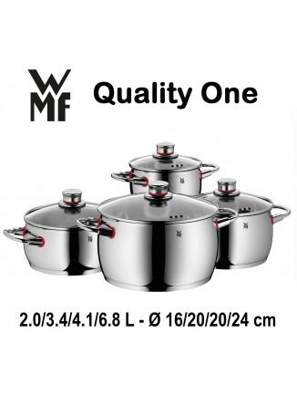 Puodų rinkinys 4 vnt. QUALITY ONE, COOL+ vėsios rankenos, Cromargan® 18/10 plienas, WMF (Vokietija)