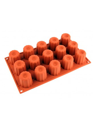 Silikoninė kepimo forma MIDI kanelėms, 15x60ml, BORDELAIS, SILIKOMART (Italija)