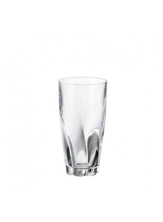 Stiklinės / taurės aukštos BARLEY TWIST 6 vnt, 390 ml, CRYSTALITE BOHEMIJA (Čekija)
