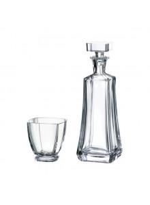 Rinkinys viskiui AREZZO 7 dalys su grafinu, CRYSTALITE BOHEMIA (Čekija)