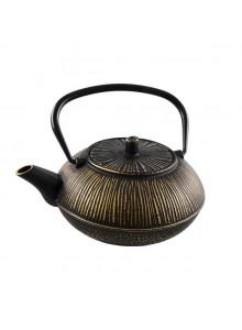 Ketaus arbatinukas 0,8 L, juodas/auksas, HIT (Olandija)