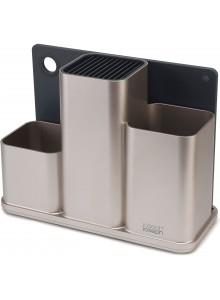 Stovas peiliams / virtuvės įrankiams su pjaustymo lentele, COUNTERStore,  JOSEPH & JOSEPH (UK)