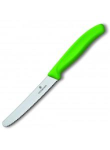 Peilis Victorinox su dantukais classic žalias