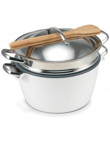 Puodas Hot Pot  5,0 ltr. baltas