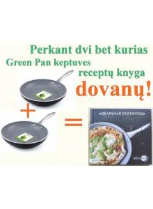 Perkant bet kurias dvi GreenPan keptuves receptų knyga kainuos 1 cnt.
