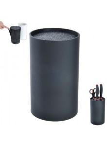 Stovas peiliams 18 cm., apvalus, juodas, ORION