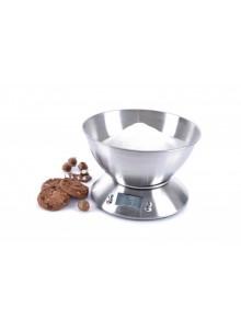 Virtuvinės svarstyklės su metaliniu indu