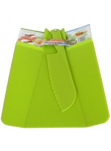 Pjaustymo lentelė sulenkiama ir plastikinis peilis, žalias