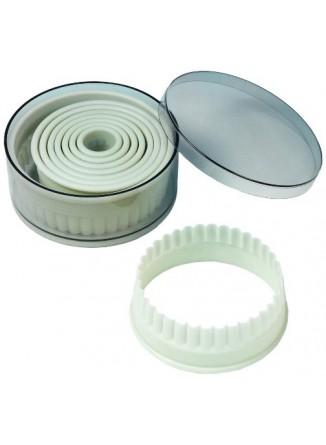 Formelės 9 vnt. žiedai pjaust. plastik. De BUYER