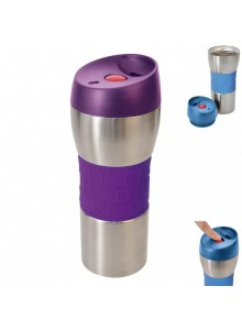 Termo puodelis 0,4 ltr. Guma mėlynas, ORION