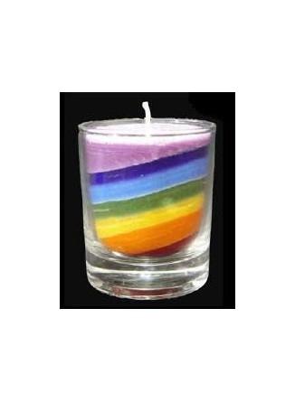 Palmių vaško žvakė maža spalvota