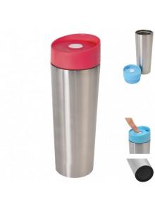 Thermal mug 0.4 ltr. steel/blue, ORION