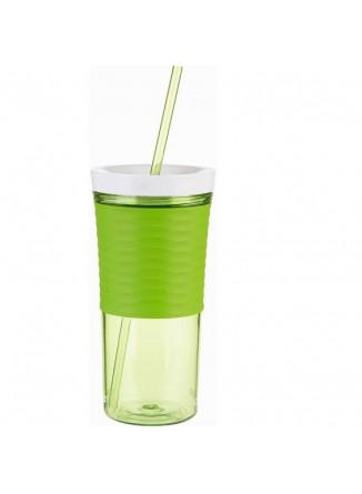Gertuvė/kokteilinė su šiaudeliu, žalia, CONTIGO