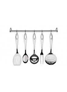 Kitchen gadgets set 6 pc., with wall rack  Mediterraneo, GIANNINI