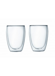 Double walled glass set 2 pcs.. 350 ml. AMBER CHEF