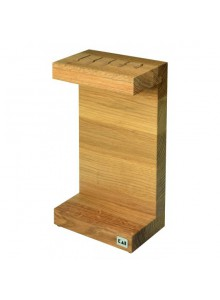 Knife block, oak wood, KAI