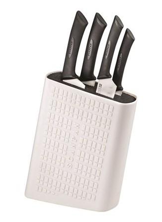 Baltas peilių stovas su baltais peiliais, SCANPAN