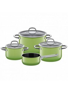 Cookware set 4 psc. with soucepan, PASSION green,  SILIT