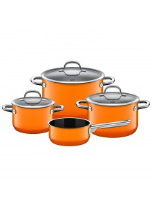 Cookware set 4 psc. with soucepan PASSION orange,  SILIT