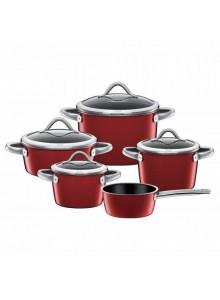Cookware set 4 pcs. VITALIANO Rosso, SILIT