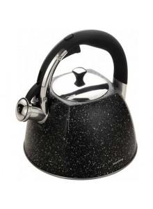 Virdulys su švilpuku,  juodas marmuras 3.0 L, Klausberg