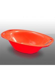 Dubenėlis V5 raudonas, ovalus su sieteliu, BORNER