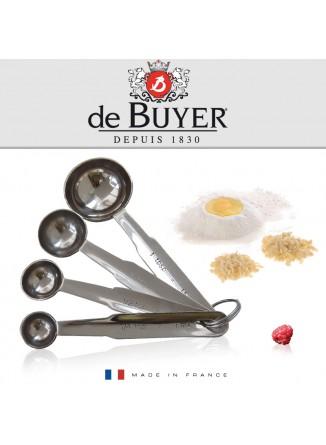 Matavimo šaukštelių rinkinys 4 vnt., De BUYER (Prancūzija)
