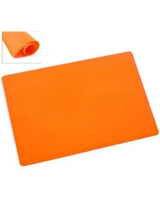Silikoninis kilimėlis 60x50 cm tešlai minkyti ir kepti, oranžinis, ORION (Čekija)