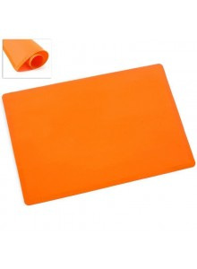 Silikoninis kilimėlis 50x40 cm tešlai minkyti ir kepti, oranžinis, ORION (Čekija)