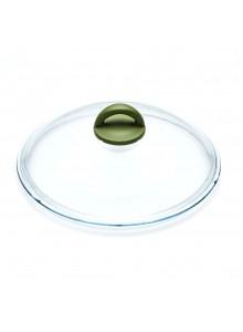 Dangtis Ø 24 cm, lietas stiklas be plieno apvado, OLIVILLA, ILLA (Italija)