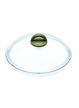Dangtis Ø 28 cm, lietas stiklas be plieno apvado, OLIVILLA, ILLA (Italija)
