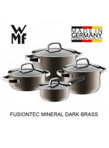 Puodų rinkinys 4 vnt. su padažine, tamsaus žalvario spalva, FUSIONTEC MINERAL, WMF (Vokietija)