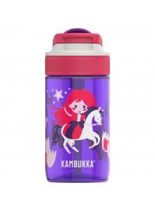 Vaikiška gertuvė 400 ml, violetinė su mergaite ant žirgo, LAGOON, KAMBUKKA® (Belgija)