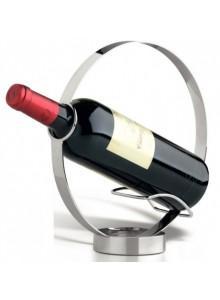 Stovas - laikiklis vyno buteliui TOULOUSE, su lanku, nerūdijantis plienas, CS KOCHSYSTEME (Vokietija)