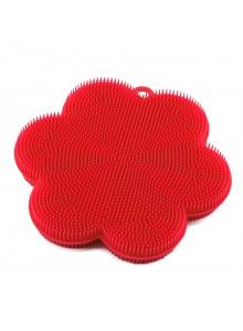 Kempinė - gėlė Ø 11 cm, silikoninė, raudona, KOCHBLUME® (Vokietija)