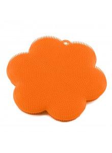 Kempinė - gėlė Ø 11 cm, silikoninė, oranžinė, KOCHBLUME® (Vokietija)