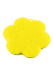 Kempinė - gėlė Ø 11 cm, silikoninė, geltona, KOCHBLUME® (Vokietija)