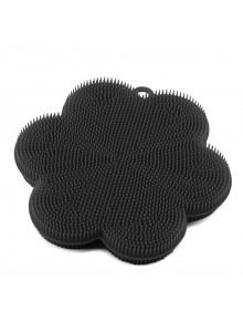 Kempinė - gėlė Ø 11 cm, silikoninė, juoda, KOCHBLUME® (Vokietija)