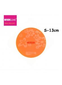 Dangtis universalus FRISCHFIXX, Ø 13 cm, silikoninis, oranžinis, KOCHBLUME® (Vokietija)